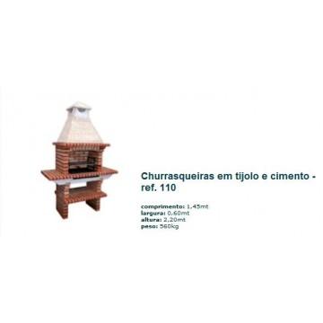 Churrasqueira c/ grelha em tijolo rústico 110