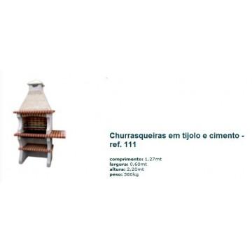 Churrasqueira c/ grelha em tijolo rústico 111