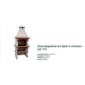 Churrasqueira c/ grelha em tijolo rústico 112