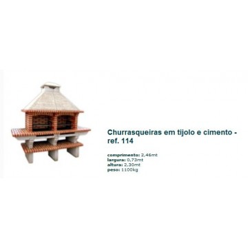 Churrasqueira Dupla c/ grelha em tijolo rústico 114