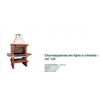 Churrasqueira c/ grelha e c/ 2 mesas em tijolo rústico 125