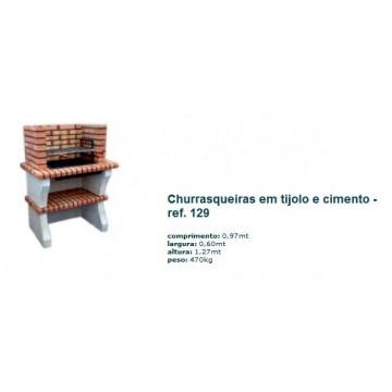 Churrasqueira s/ chaminé em tijolo rústico 129