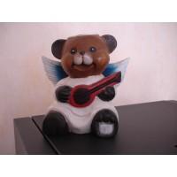 Urso anjo guitarra
