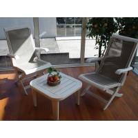 Conjunto Cadeiras Riviera em resina com mesa de centro (KETTAL)