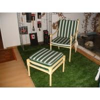 Conj. Cadeira Berlin amarelo + mesa responsapies